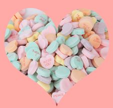Free Candy Hearts Royalty Free Stock Photo - 36565595