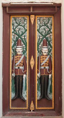 Free Door In Thai Temple Stock Photo - 36568750