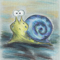 Free Blue Snail Cartoon Stock Photo - 36573270