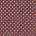 Free Retro Seamless Pattern With Colorful Hearts. Stock Photography - 36575442