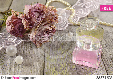 Free Still Life With Rose Fragrance Royalty Free Stock Photos - 36571538