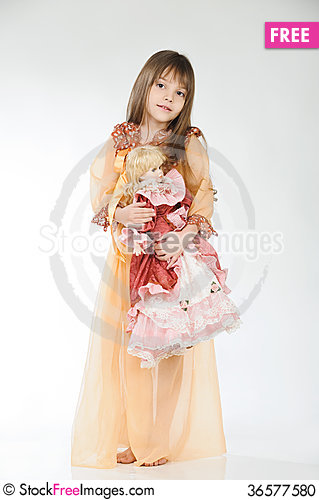 Free Girl And Doll Stock Photo - 36577580