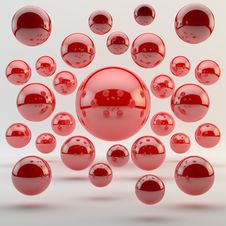 Abstract Red Geometric Sphere Stock Photos