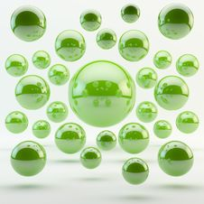 Abstract Green Geometric Sphere Royalty Free Stock Photo