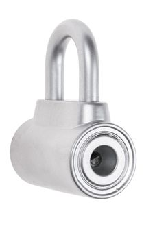 Free Chrome Metal Padlock Isolated Royalty Free Stock Photography - 36571917