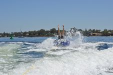 Free Extreme Water Tubing Teen Boy Stock Image - 36573141