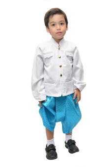 Little Boy Thai Costume Royalty Free Stock Photo