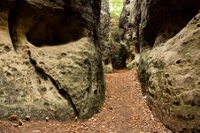 Free Path In The Rocks Royalty Free Stock Image - 36576096