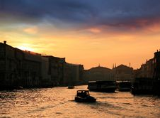 Free Sunset And The Grand Canal Stock Images - 36576474