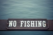 Free No Fishing Stock Photography - 36576572
