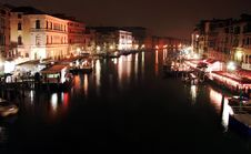 Free Nocturne In The Grand Canal Stock Image - 36576601