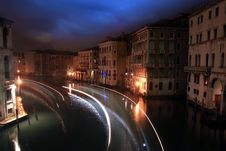 Free Nocturne In The Grand Canal Stock Images - 36576654