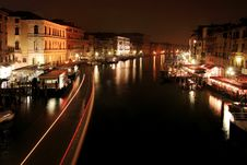 Free Nocturne In The Grand Canal Royalty Free Stock Photography - 36576657