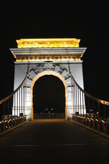 Free Fabulous Illuminated Bridge By Night,Guilin, China Stock Photo - 36576740