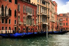 Buildings In The Grand Canal Royalty Free Stock Photo
