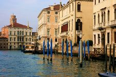 Buildings In The Grand Canal Stock Photography
