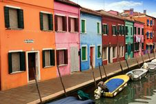 Free Colored Houses Of Burano Stock Images - 36579454