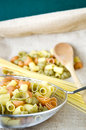 Free Uncooked Pasta In Kitchenware Royalty Free Stock Image - 36581646