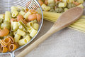 Free Wooden Spoon With Pasta Stock Photos - 36581753