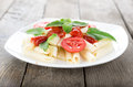Free Pasta On A Wooden Table Stock Photography - 36582212