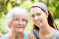 Free Senior Woman  And Granddaughter Stock Images - 36584164