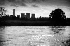 Free Power Station In Rural Setting Royalty Free Stock Photo - 36580365