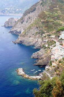 Free Riomaggiore Coast Stock Image - 36580711