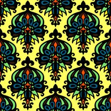 Free Abstract Flower Seamless Pattern Vector Stock Photos - 36581643