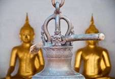 Free The Wooden Stick Hange On The Thai Style Bell In The Temple In T Royalty Free Stock Photography - 36582127