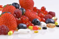 Vitamins And Nutritional Supplements Stock Photo