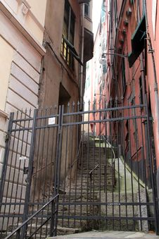 Street In Genoa Stock Photos