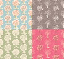 Free Pattern With Tree Royalty Free Stock Image - 36583196
