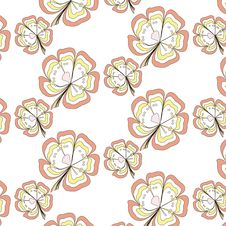 Free Seamless Sweet Pattern In The Yellow And Pink Stock Photography - 36583862
