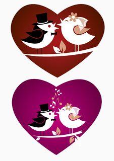 Wedding Birds Stock Photography