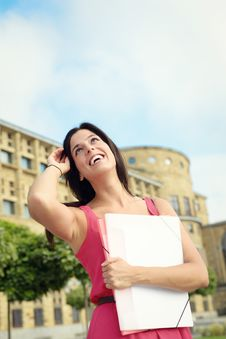 Free Female College Student In Campus Royalty Free Stock Photo - 36588505