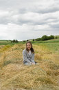 Free Girl In Hay Royalty Free Stock Photos - 36594098
