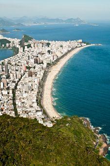 Free Aerial View Of Ipanema And Leblon Beach Royalty Free Stock Image - 36593056