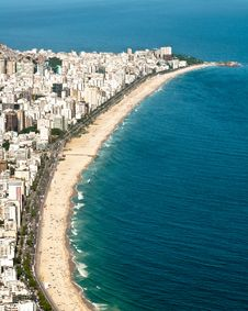 Free Aerial View Of Ipanema And Leblon Beach Stock Photos - 36593073