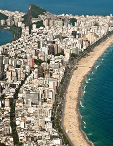 Free Aerial View Of Ipanema And Leblon Beach Stock Photography - 36593132