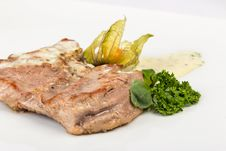 Piece Of Bavarian Roasted Pork In Beer Sauce Stock Photo