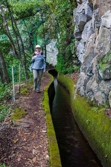 Free Lady Levada Canal Royalty Free Stock Image - 36596136