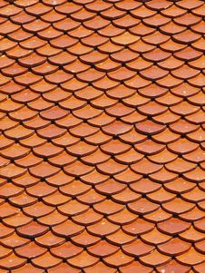 Free Earthenware Roof Texture Stock Images - 36596904