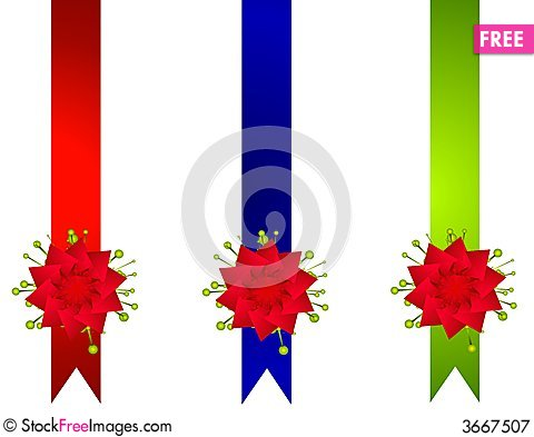 Decorative Christmas Ribbons And Bows Borders - Free Stock ...