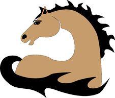 Buckskin Fire Horse Stock Photos
