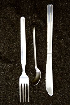 Free Spoon, Knife And Fork Royalty Free Stock Image - 3661506
