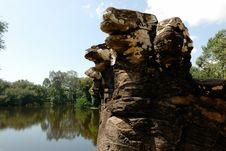 Free Naga  Angkor, Cambodia Royalty Free Stock Images - 3662199