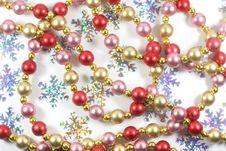 Christmas Beads Royalty Free Stock Photo