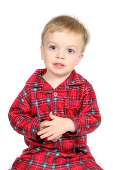Free Boy In Christmas Clothes Stock Image - 3663881