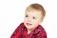 Free Boy In Christmas Shirt Royalty Free Stock Photography - 3663887