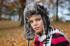 Beautiful Autumn Girl Stock Photos